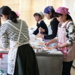 子どもお菓子教室 苺のシャルロットケーキ