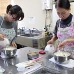 ヘーゼルナッツのロールケーキ お菓子教室1