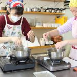 子どもお菓子教室 チーズロールケーキ