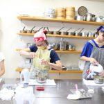 くるみとメイプルシロップのシフォンケーキ 子供お菓子教室